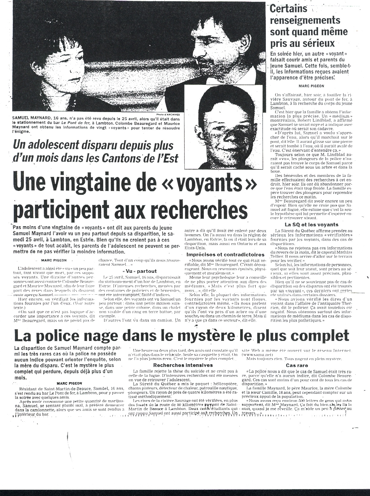 Journal de Montreal 31 - 5 - 98