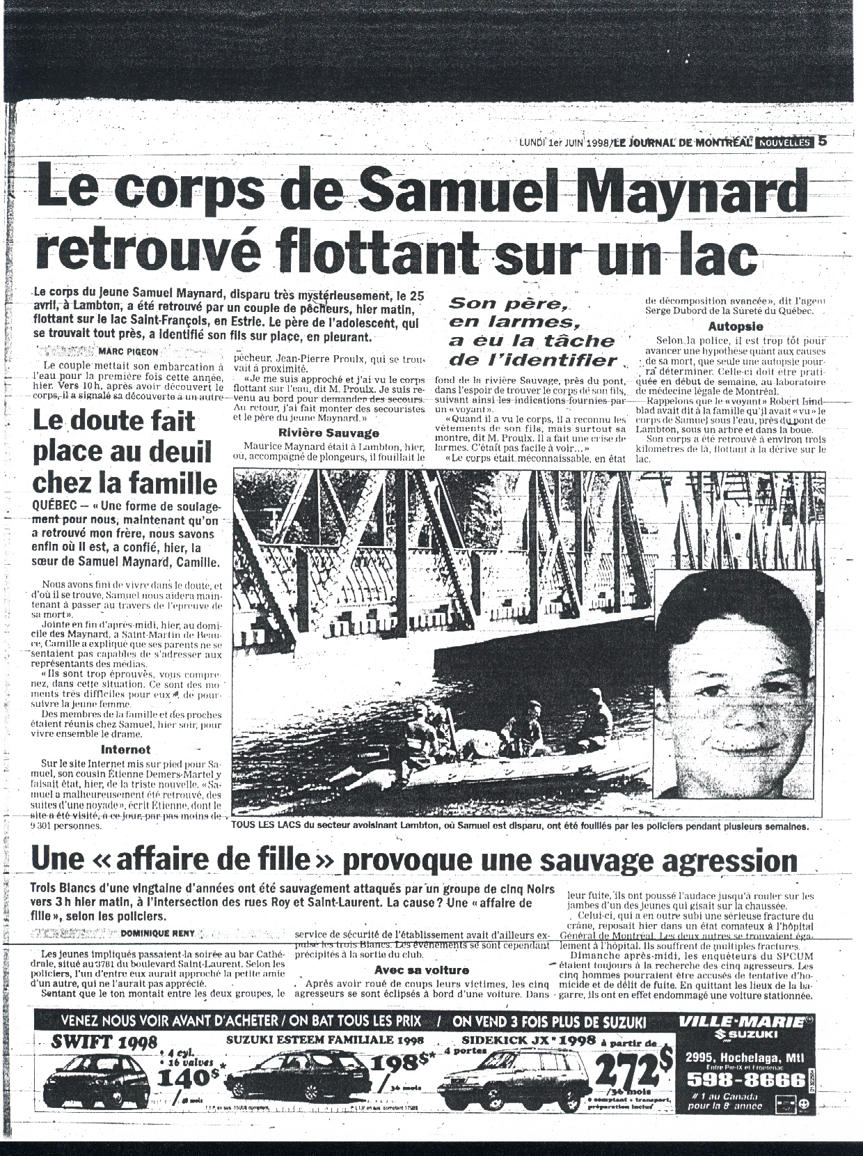 Journal de Montreal 1 - 6 - 98
